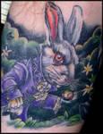 White Rabbit Tattoo by marloe