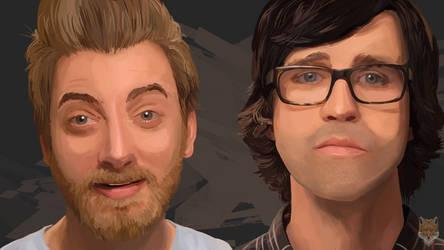 Rhett n Link digital paint by diego1a