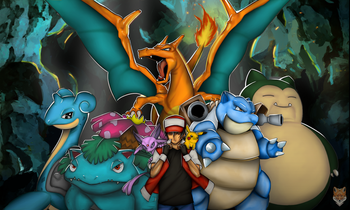 Trainer Red / the most powerful team by diego1a