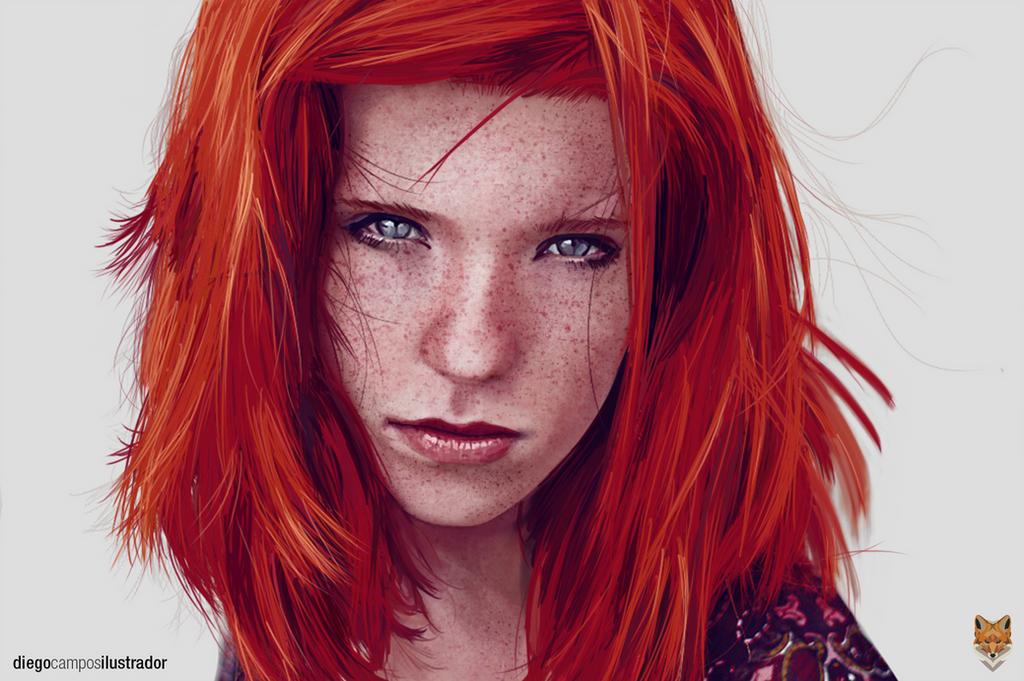Redhead Beauty by diego1a