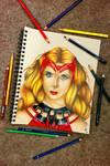 The Scarlet Witch (Wanda Maximoff) by minidynz