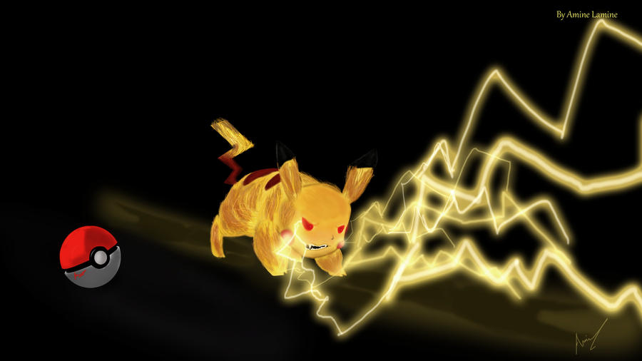 Angry Pikachu attack b...