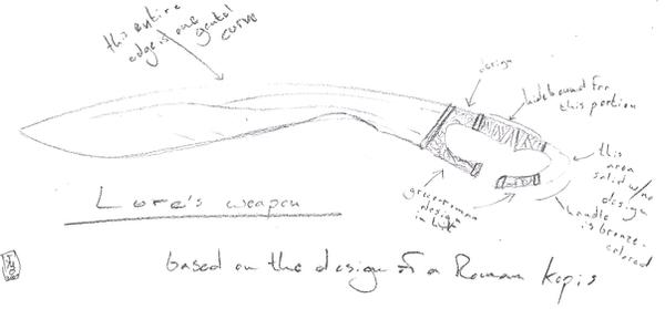 Weapon Concept - BW Sketch by SpecimenA