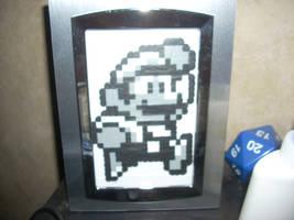 Perler Mario and D20