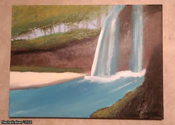 Waterfall Painting by MechaKraken