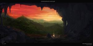 Evening fire by adamkuczek