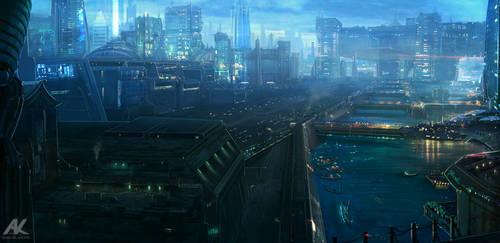 Bridge City by adamkuczek