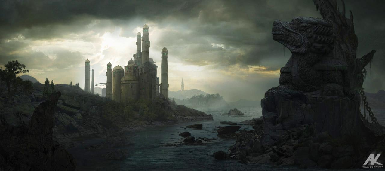 Jade Castle by adamkuczek