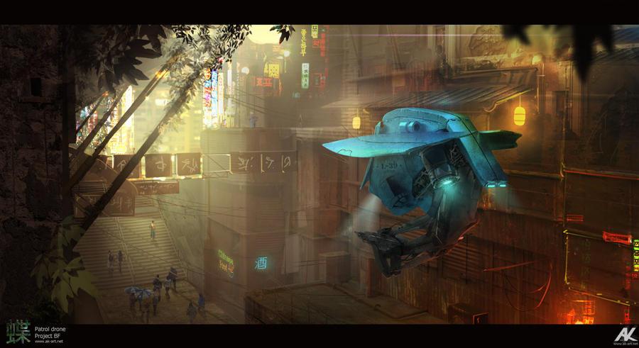 Patrol drone by adamkuczek