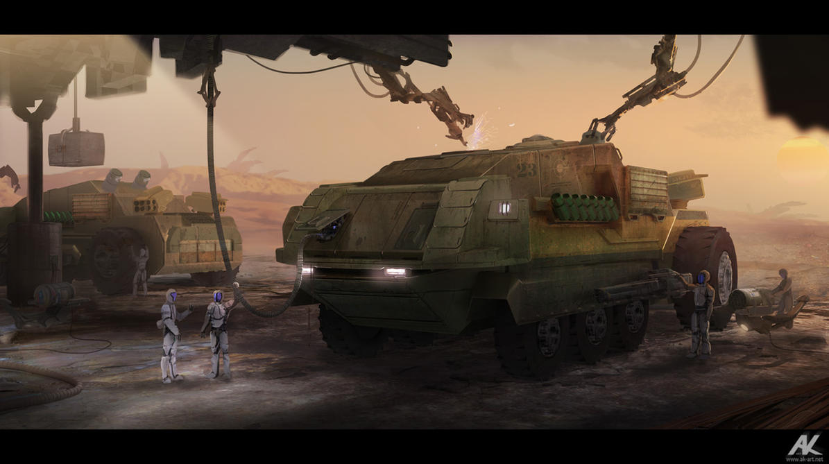 Armored carrier by adamkuczek