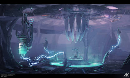 Absolutum - throne room by adamkuczek