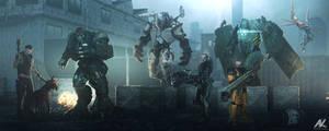 Mutants' lineup by adamkuczek