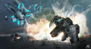 Assault on Silver Fin by adamkuczek