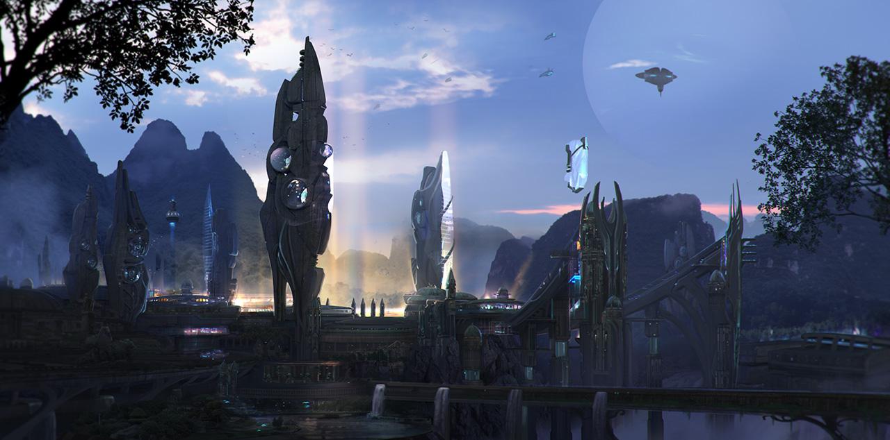 Capital of Etherna by adamkuczek
