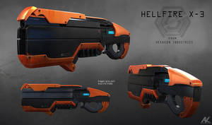 Hellfire X-3 rifle - overall look by adamkuczek