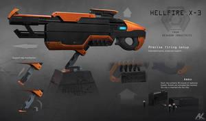 Hellfire X-3 rifle - details