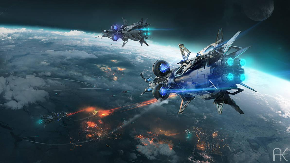 The Sigian Bracelet - Orbital battle by adamkuczek