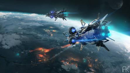 The Sigian Bracelet - Orbital battle