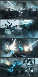 Robocop - Orion City (scene 4) by adamkuczek