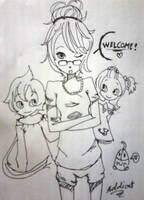 me with my girls by addicat