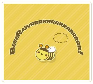 Kawaii Bee Wallpaper by JoMajik