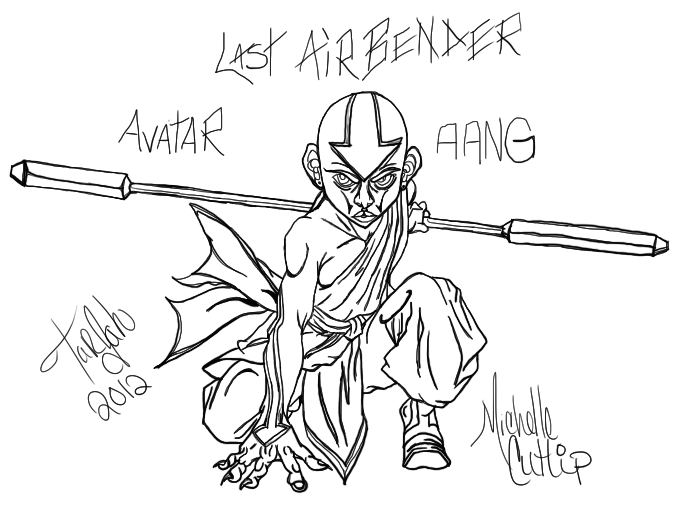 aang the last airbender study 1 by little wildcat