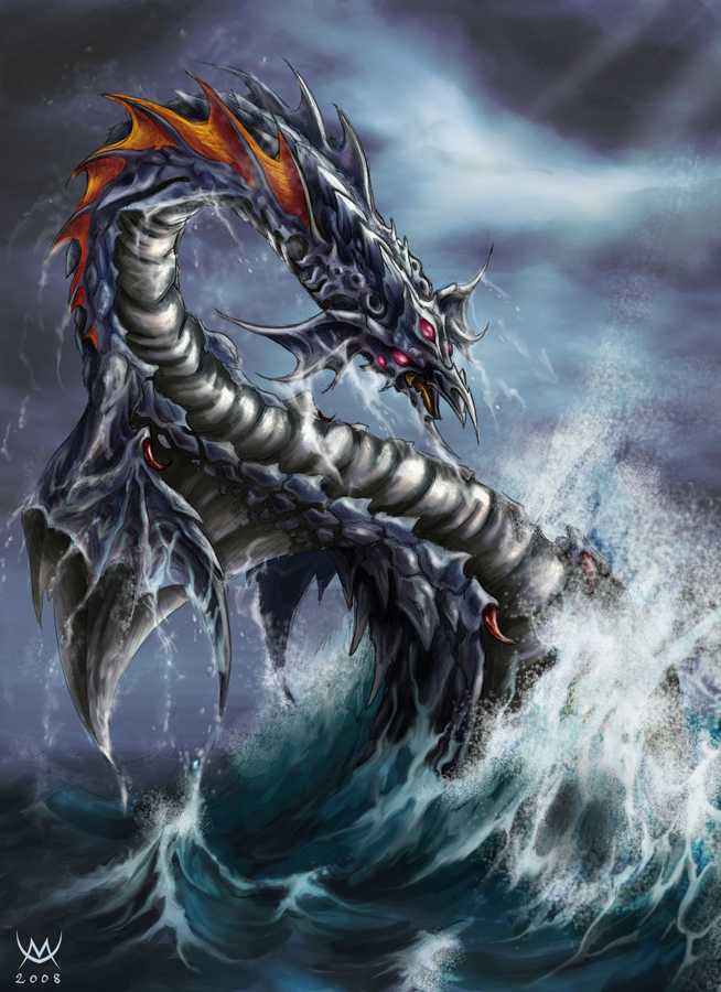 Sea Serpent by Maxa-art on DeviantArt
