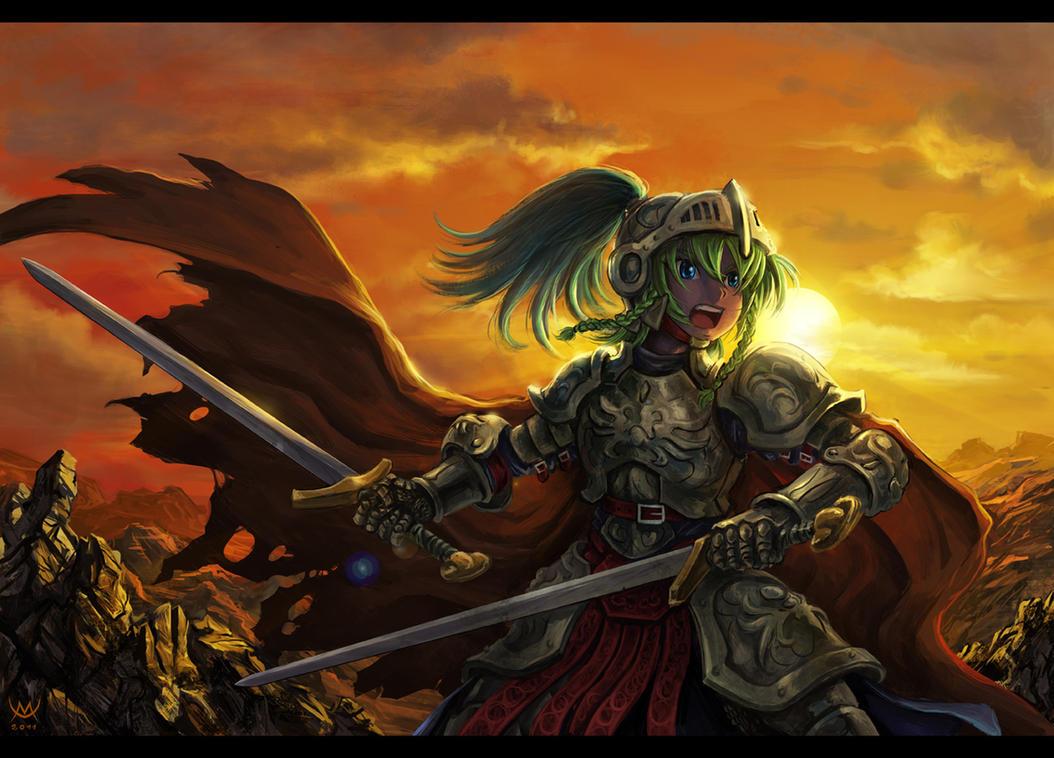 Twin Swords by Maxa-art