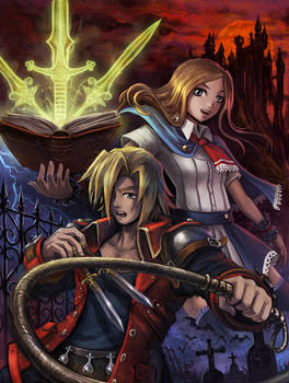 Castlevania - Charlotte and Jonathan by Maxa-art