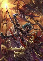 Half Demon Versus Demons by Maxa-art