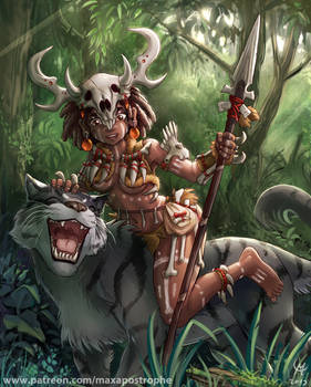 Jungle Girl And Her Friend