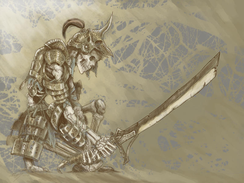 Skeleton Knight by Maxa-art