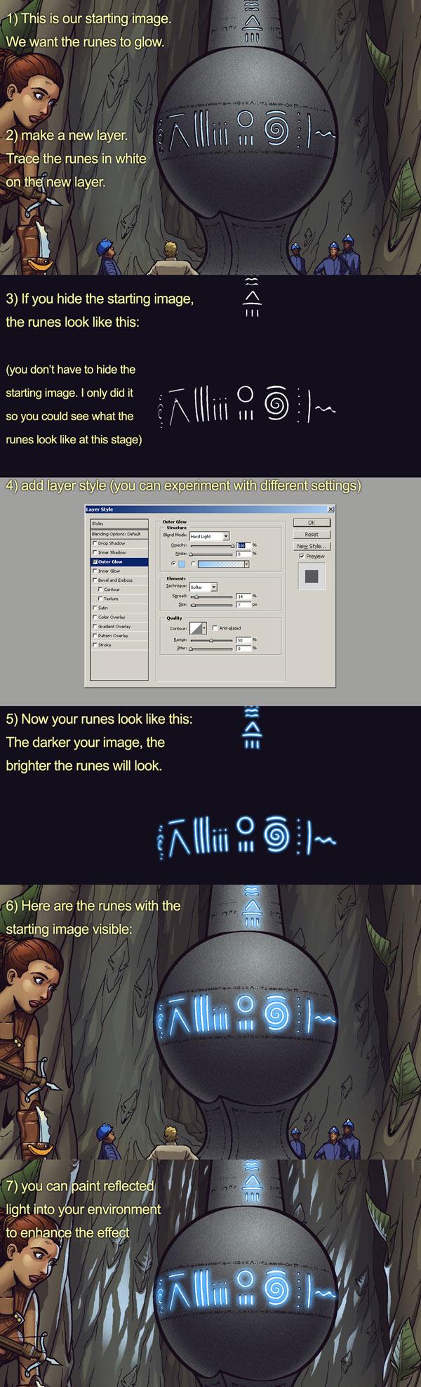 glowing runes tutorial by MichaelMetcalf