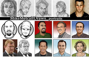 Mikemetcalfdraws Portraits by MichaelMetcalf