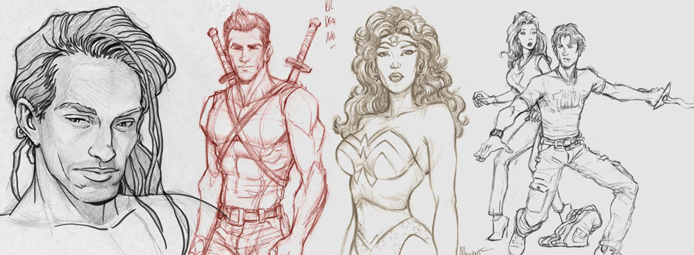Mm-comic-sketch-samples by MichaelMetcalf