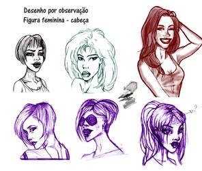 Desenho da figura feminina