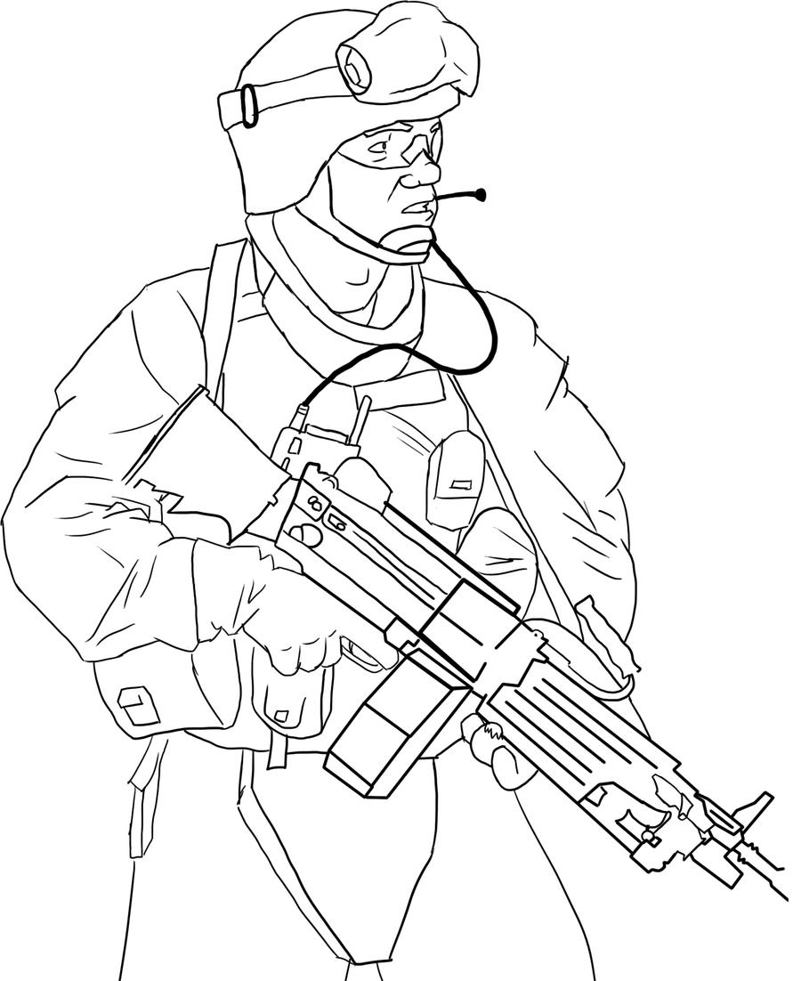 american soldier drawing - photo #8