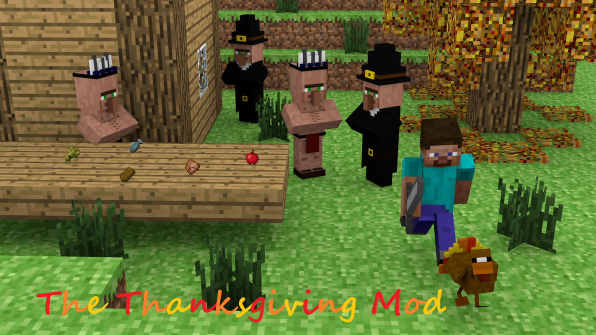 Top Wallpaper Minecraft Thanksgiving - minecraft_thanksgiving_mod_1080p_by_tylerpete16-d5wa24i  Perfect Image Reference_234115.png