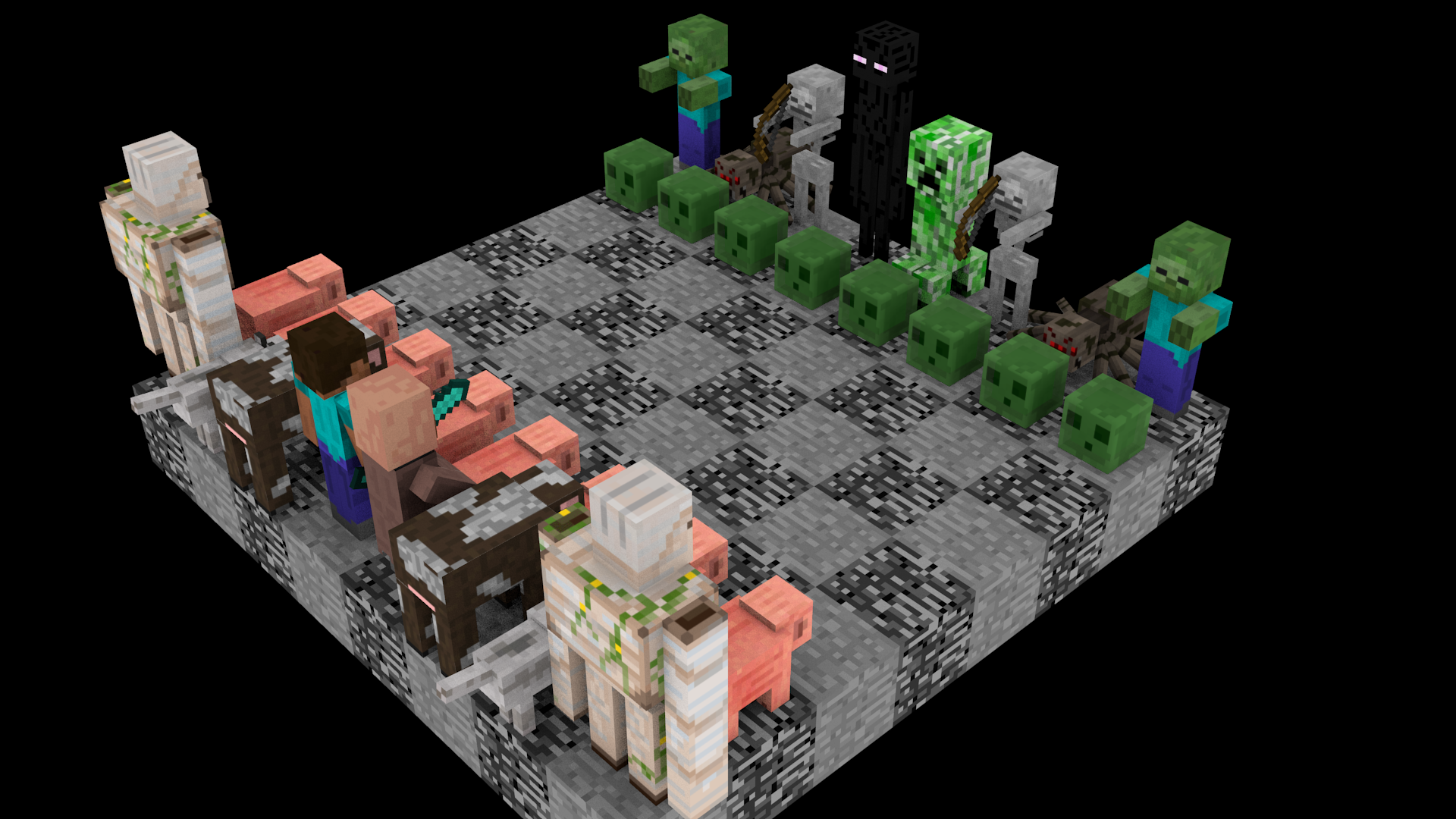 Download Wallpaper Minecraft Thanksgiving - minecraft_chess_set_front_by_tylerpete16-d5wa2ed  Pictures_222771.png