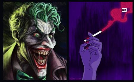 Joker And Smoking Pic