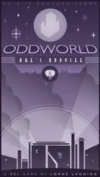 Oddworld Art Deco Poster 01 by ameba2k
