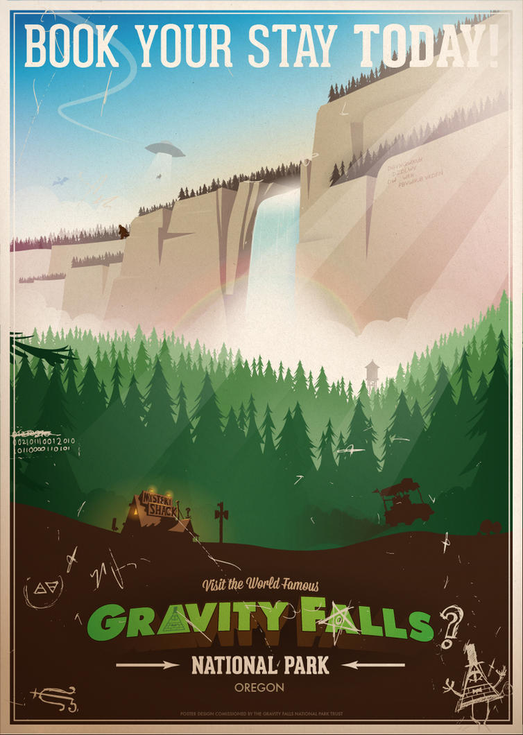 Gravity Falls National Park by ameba2k