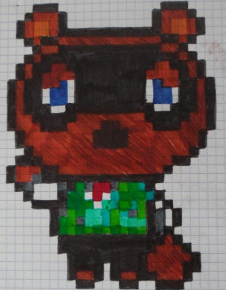 Pixel art: Animal Crossing Tom Nook by Crococraft on ... - Pixel Art Animal Crossing