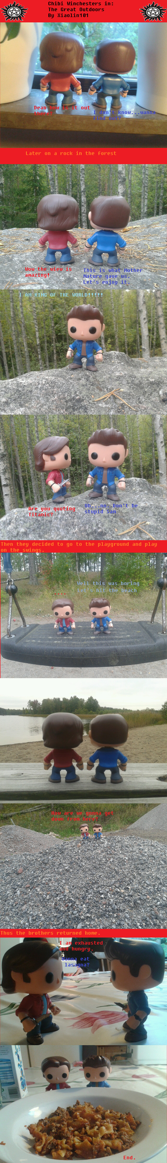 Chibi Winchester Adventures: The Great Outdoors by Xiaolin101
