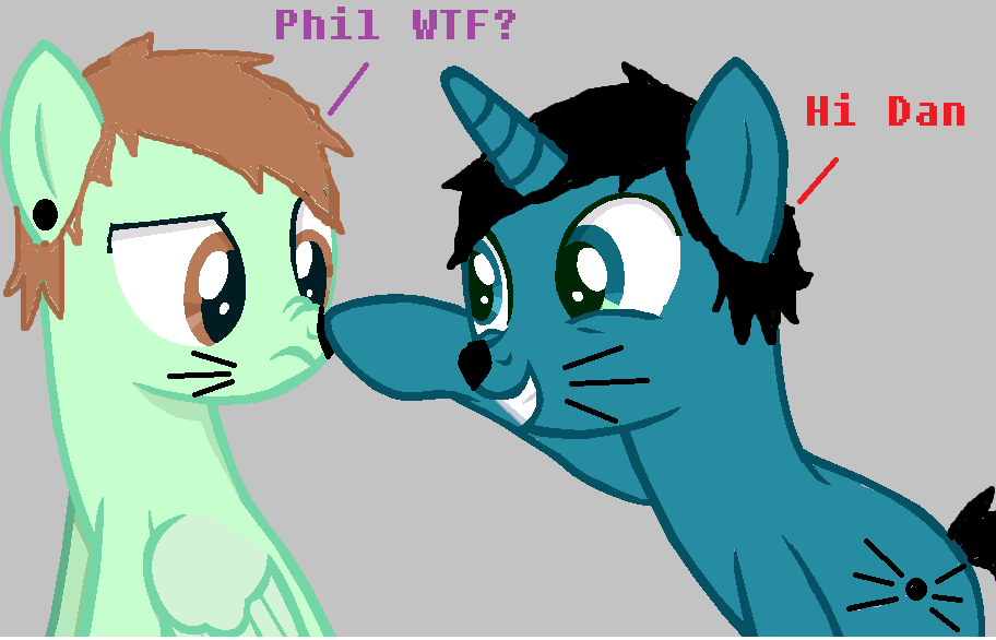 YouTube Ponies: Dan and Phil by Xiaolin101
