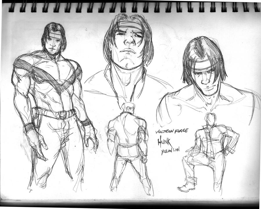 Voltron Character Sketches: Hunk By NStevenHarris On