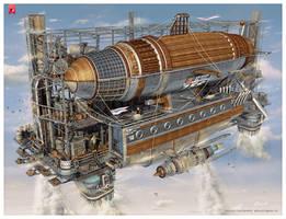 Airship by Alexey-Starodumov