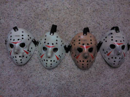 practicing Voorhees mask weathering and paintups