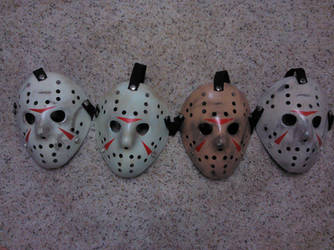 practicing Voorhees mask weathering and paintups by fred99u
