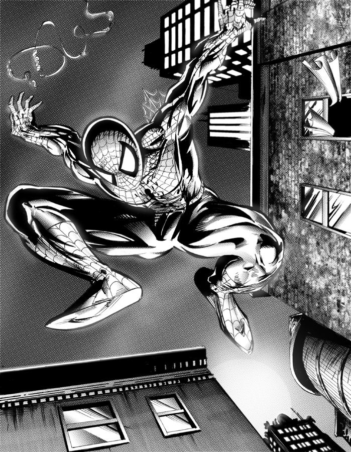 Spider-man black and white by shanepeters on DeviantArt
